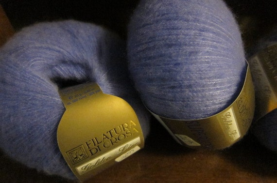 "1 Ball, Filatura di Crosa, Golden Line ""Superior"" (3 balls total available), Knitting Yarn, 25g, 300m - Cashmere / Silk Blend in Mauve"