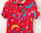 Star Party Button Down