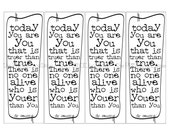 Dr seuss...today you are you...Printable bookmarks