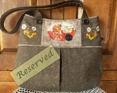 Reserved for M.S. - Embroidered Glamper Tote Bag