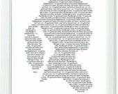 Inspirational Christian Black and White Typography Art Print This Little Light Of Mine -Girl -8x10