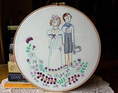 Lizzie & Mr. Darcy - Embroidery Pattern PDF - Includes Stitch Guide - Pride and Prejudice - Jane Austen