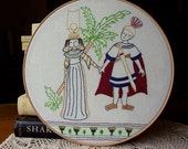 Antony & Cleopatra - Embroidery Pattern PDF - Shakespeare - Includes Color and Stitch Guide
