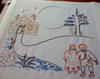 Hansel & Gretel - Embroidery Pattern PDF - Fairy Tale - Brothers Grimm