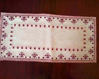 Tablecloth Bulgarian embroidery Hand made table runner