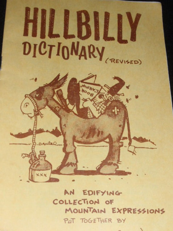Half Price Sale 1970s HILLBILLY Dictionary Souvenir GATLINBURG TN Mountain Expressions Humor