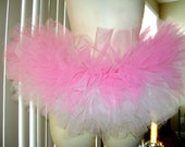 Short baby pink and white tutu (READY TO SHIP)