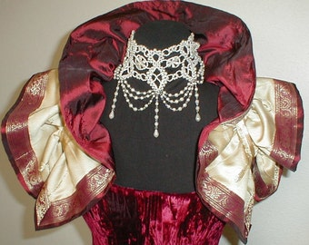 Regal  Red & Gold Shrug Collar Bolero  Burlesque Steampunk  Vamp Victorian U.S. Size 12