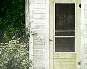 Country House, Green Door Original, Shabby Chic,  Fine Art Photography Print - VintageOnWings