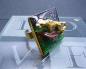 Resin ring - The Majestic Tiger