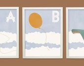 ABC Flight Collection - Multicolored - modern wall art - 8x10