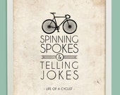 11x14 - Life of a Cyclist - Tan Cycling Spokes - modern wall art