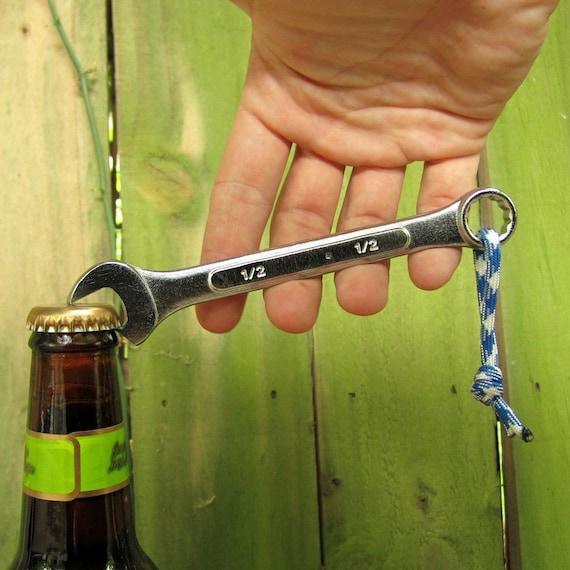 The Bottle Wrench Bottle Opener - Original - Blue & White