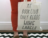 SALE Book (wine) Club Tote Bag (Trademarked) - Joyofexfoundation