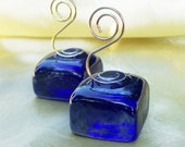 Cobalt Blue Nice Cube--Your Choice Of Gold Or Silver Toned Hook--Sample