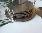 Coasters in plated silver