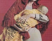 Vintage Crochet Pattern Woman's Shawl w/or without Hood PDF