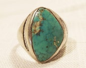 Vintage Silver Tone Turquoise Ring