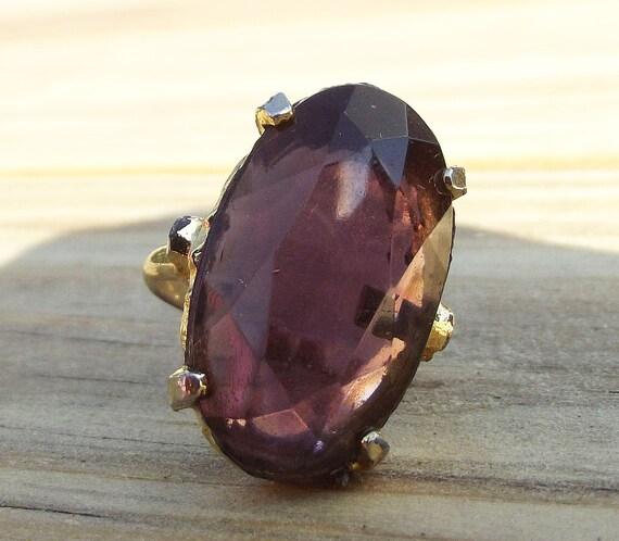 Vintage Purple Gem Ring Size 7