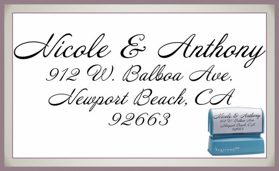 Elegant Self Inking Return Address Stamp - Personalized Preink Stamper