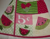 "Crochet Kitchen Towel "" Watermelon"
