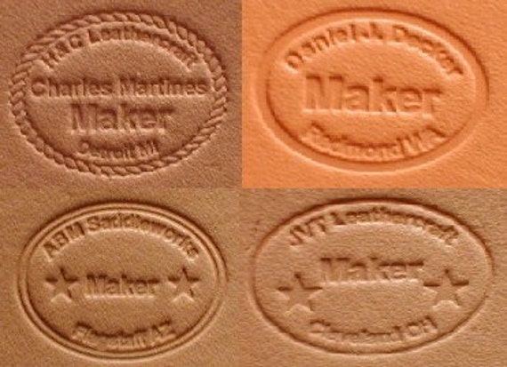 Custom Personalized Leather Makers Stamp