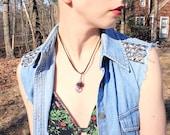 BLACK MAGIC Amethyst point necklace (02)