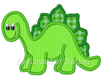 Dinosaur Boys Applique Machine Embroidery Design Green baby animal INSTANT DOWNLOAD