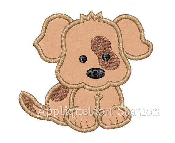Baby Puppy Dog patch over eye spot Applique Machine Embroidery Design Pattern Boy baby animal INSTANT DOWNLOAD