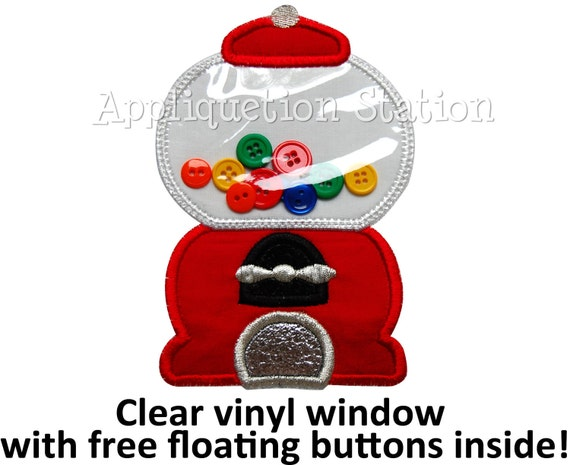 Machine Embroidery Design Candyland Gumball Machine