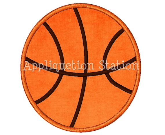 Basketball Applique Machine Embroidery Design Boy Sports Ball INSTANT DOWNLOAD