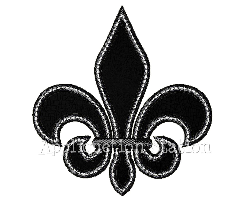 Free Fleur De Lis Applique Embroidery Design