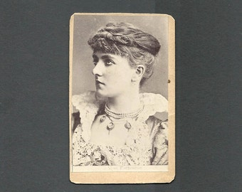 Theatrical CDV of Actress May Fortescue