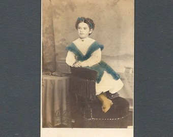 Tinted CDV of a Pretty Little Girl