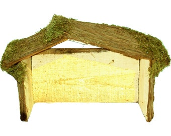 Wood Nativity Stable, Manger, Christmas Stable, Christmas Creche, Nativity Manger