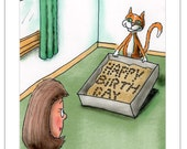 Litter Box - Happy Birthday from the Cat