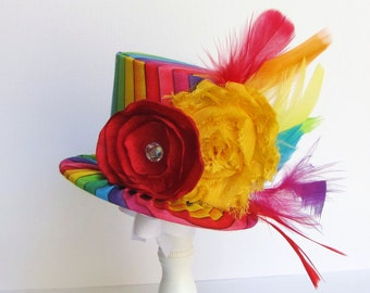 Mini Top Hat Headband, Alice in Wonderland themed Tea Party, RAINBOW CIRCUS, Birthday, Costume, Photo Prop, Gift from Truly Sweet Circus