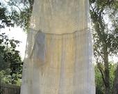 Shabby Chic white lace womens long skirt