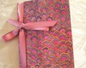 Mini Patterned Pink Petals Journal with Ribbon