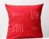 Pillow Cover red - decorative covers - throw pillows - shams - 20x20