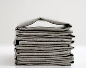 Linen napkin set of 6 - grey - 12x12 inch size   0241