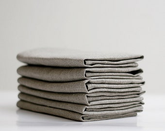 Linen napkin  - Set of 6  13x18 inch size   0234