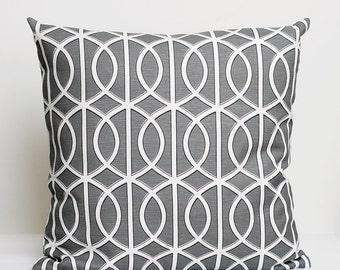 Designer Pillow Cover - shams - decorative covers- 18x18 Dwell Studio, grey