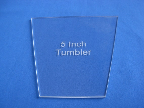 Items Similar To 5 Inch Tumbler Quilt Template 1 8 Quot Clear
