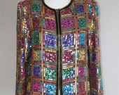 Squared Sequined 80s Jacket