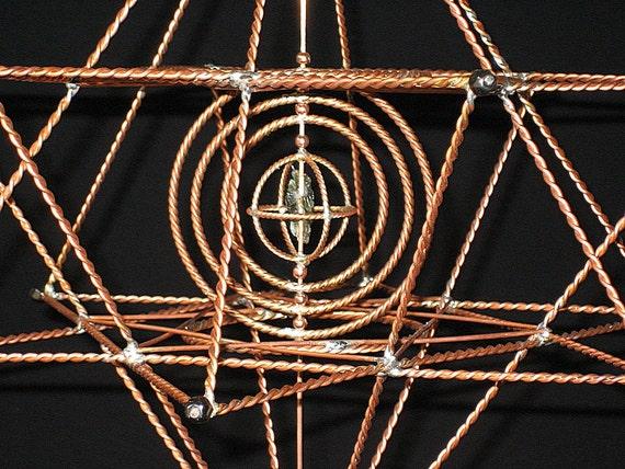 14 point Merkava with tune-able energy moldavite center piece