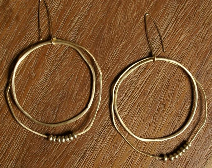 Organic Hoops Earring