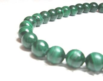 Malachite Necklace Unique Vintage Natural