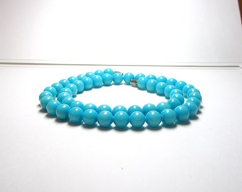 Blue  Beaded Necklace- Turquoise Necklace-Vintage, Natural