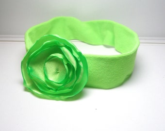 Green  Flower Headband for Everyone